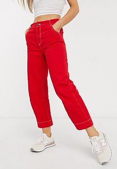 Native Youth slim trousers in red