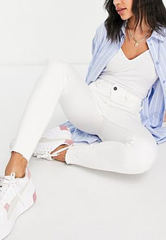 New Look high waisted super skinny jeans in white