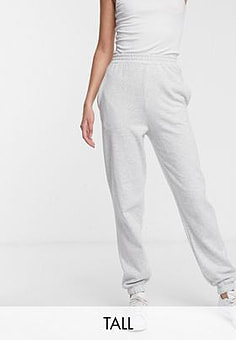 New Look cuffed jogger in light grey