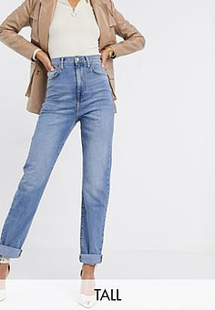 New Look straight leg jean in mid blue