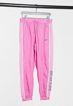 NIKE woven pant with piping in pink