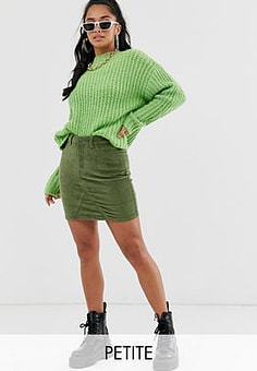 Noisy May cord mini skirt-Green