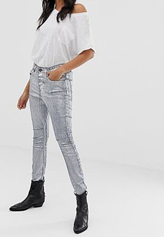 One Teaspoon Kidds metallic skinny jeans-Grey