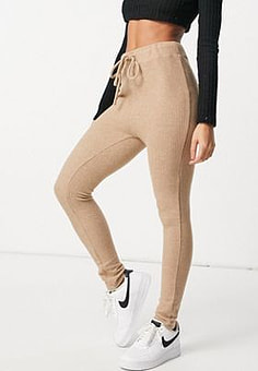 Parallel Lines knit trouser in beige