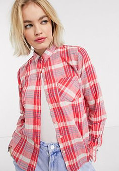 Pepe Jeans Pepe Missy shirt in check-Multi