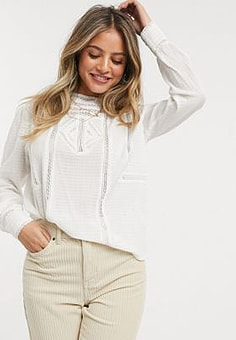 Pimkie detailed blouse in white