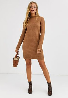 Pimkie jumper dress in brown-Grey