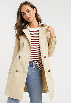 Pimkie short length trench in beige