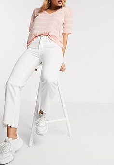 Pimkie sustainable straight fit jean in white