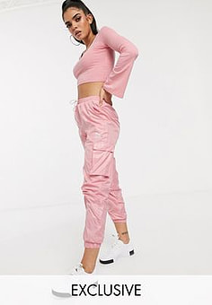 Puma Cargo Trousers in Pink