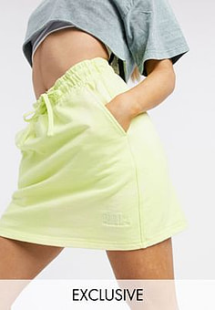 Puma heavy classsic mini skirt in lime - exclusive to ASOS-Green