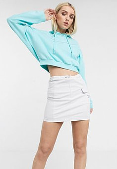 Reebok utility skirt in white with reflective piping exclusive to ASOS-Purple