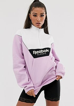 Reebok Vector pull over in purple