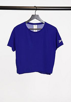 Reebok workout ready tee in cobalt blue