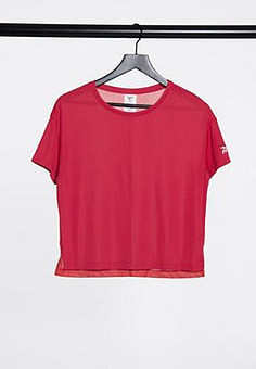Reebok workout ready tee in rebel red