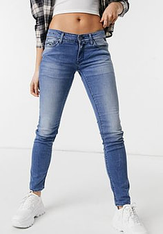 Replay skinny mid raise Jeans in dark wash-No Colour