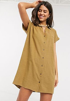 Rip Curl  The Adrift cotton dress in caramel-Brown