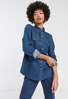 Selected Femme denim shirt-Blue