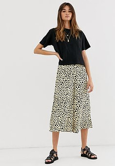 Soaked in Luxury snow leopard trousers-Multi