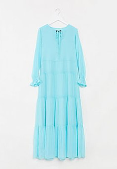 Soaked in Luxury tiered maxi dress-Blue