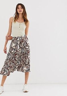 Soaked in Luxury tiger print skirt-Multi
