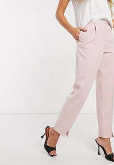 Ted Baker belt detail tailored trouser in pink