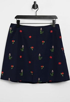 Ted Baker kirstenbosch ditsy mini skirt in navy