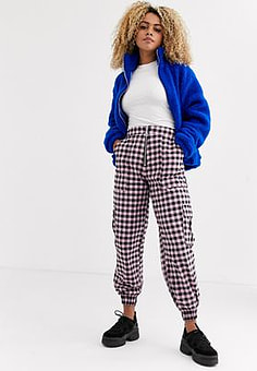 The Ragged Priest combat trousers in pink gingham