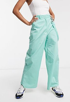 The Ragged Priest wide leg trousers-Blue
