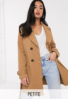 Vero Moda tailored mac in camel-Brown