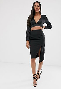 Vesper black midi skirt-Multi