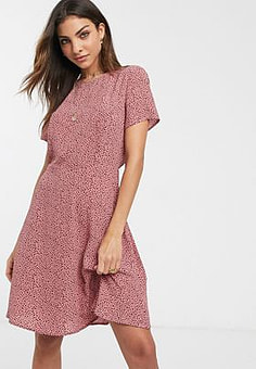 Vila ditsy floral mini dress-Multi