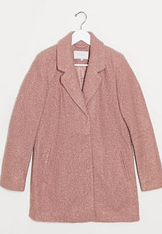 Vila straight coat in rose-Pink