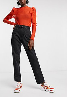 Waven mom jeans in vintage black