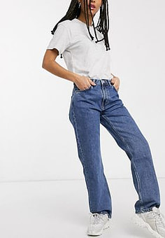 Weekday Voyage straight leg jeans in blue
