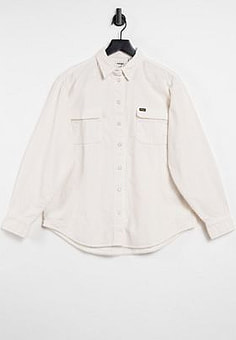 Wrangler loose cord shirt in white