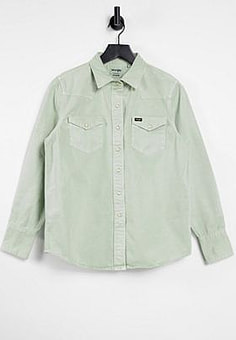 Wrangler regluar fit denim shirt-Green