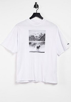 Wrangler relaxed t-shirt with graphic in white