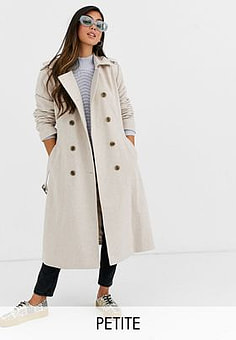 Y.A.S double breasted military coat-White
