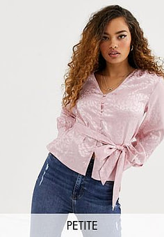 Y.A.S Sybls satin button up blouse-Pink