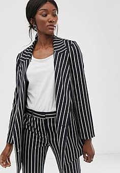 Just Female Laurent double breasted stripe co-ord blazer-Navy