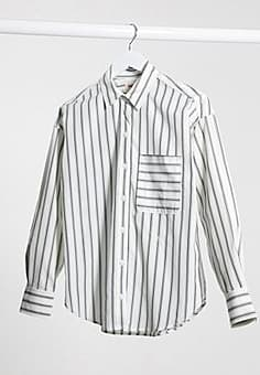 Levi's Levi relaxed shirt in stripe-White