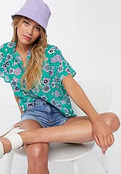 MiH Jeans MiH floral blouse-Green