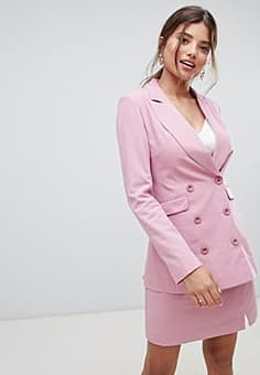 Millie Mackintosh 90's double breasted co-ord blazer-Pink