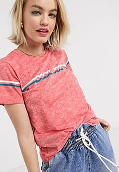 Pepe Jeans Pepe Lola 70's t-shirt in red