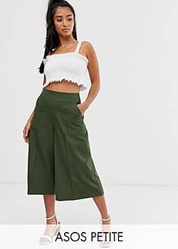 ASOS ASOS DESIGN Petite tailored clean culottes-Green