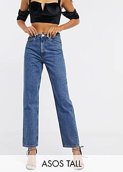 ASOS ASOS DESIGN Tall Florence authentic straight leg jeans in vintage midwash blue