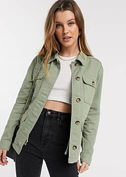 b.Young b. Young utility jacket-Green