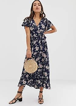 Band of Gypsies Band Of floral print wrap maxi dress-Multi