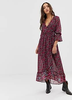 Band of Gypsies floral print midi dress-Multi